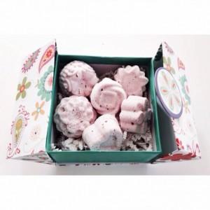 Bath Bomb -- One Ounce Bath Fizzies (6) – Lavender and Rose Bath Fizzies – Lavender and Rose Bath Bomb – Mini Bath Fizzies - non GMO