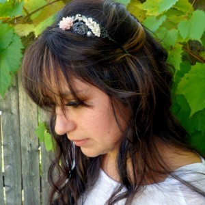 Sparkly Headband, Metal Women's Head band, Radiant Orchid Headband, Sparkly Headpiece, Prom Headband