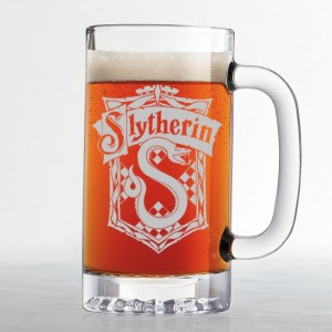 Harry Potter - Slytherin House Crest - Etched Beer Mug