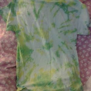 Medium Yellow and Green Tie Dye Shirt