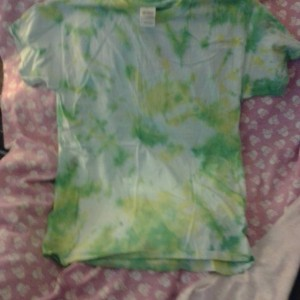 Medium Yellow and Green Tie Dye Shirt