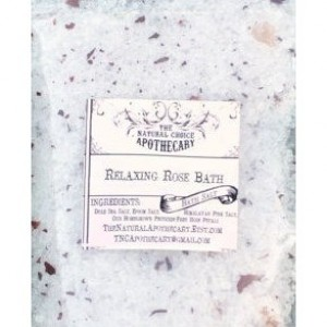 2 Pouches Relaxing Rose Bath Soak, Organic Rose Petal Bath Salt - Handmade by The Natural Choice Apothecary