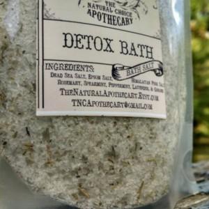 2 Pouches Detox Bath Soak, All Natural Bath Salts, Body Detox Tub Tea Blend, Organic Spa Bath - Handmade by The Natural Choice Apothecary - Homemade