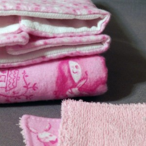 Baby Girl Pacifier Strap Burp Cloth and Wash Cloth Gift Set - Small