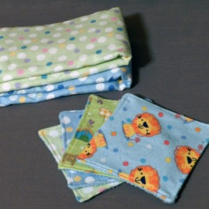 Baby Boy Burp Cloth and Wash Cloth Gift Set