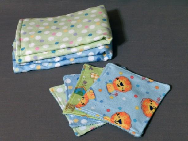 Baby Boy Burp Cloth and Wash Cloth Gift Set