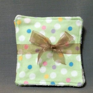 Grab Bag! Set of 5 Flannel and Terry Cloth Baby Washcloths