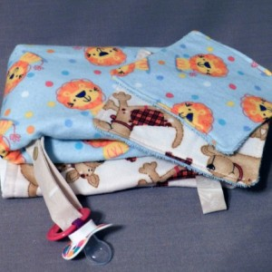 Baby Boy Pacifier Strap Burp Cloth and Wash Cloth Gift Set - Small