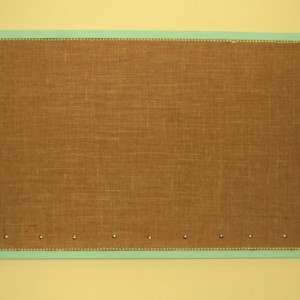 Burlap Cork Board Message Board