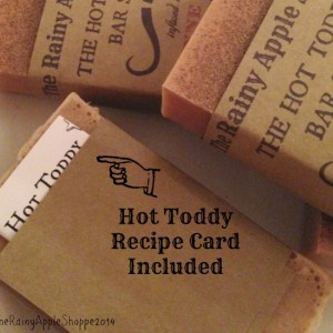 Handmade soap, 4 oz bar, spice soap, cayenne soap, hand cut soap, all natural soap, handmade gifts, hot toddy, hot toddy recipe, gift wrap