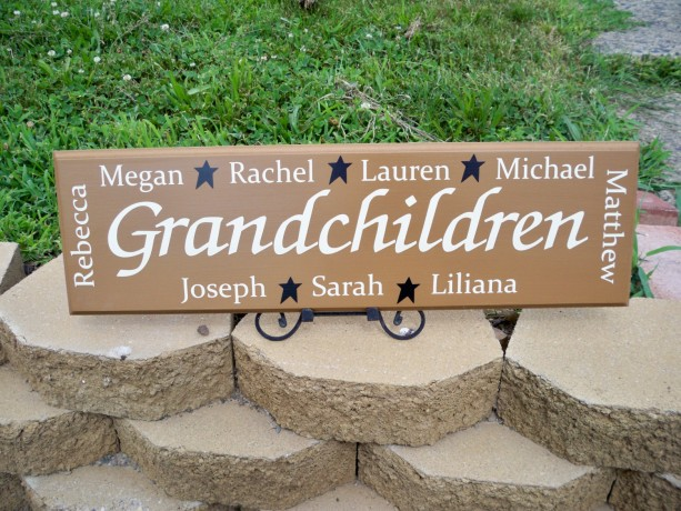 Personalized Grandmother Gift, Personalized Grandchildren Sign, P ...