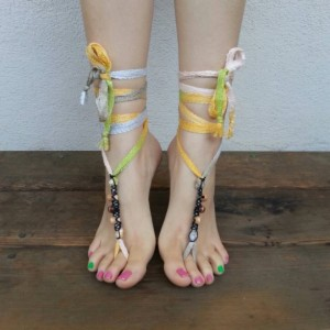 Barefoot Sandals - Yoga Shoes - Hippie Sandals - Hobbit Sandals - Hemp Sandals - Bohemian Footwear - Yoga Sandals - Ballerina