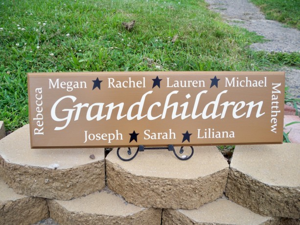 Personalized Grandmother Gift Personalized Grandchildren Sign P