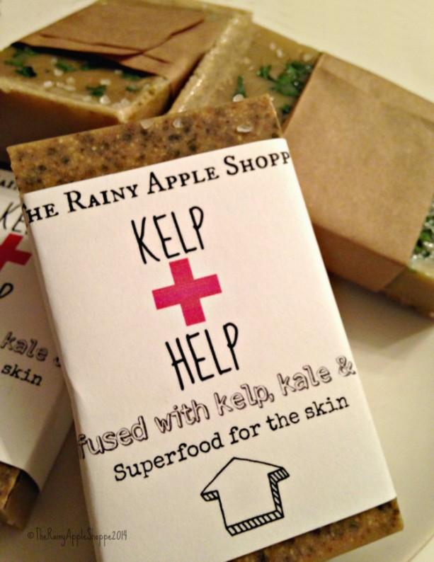 Sea Kelp soap, skincare, kale soap, soy scrub soap, handmade soap, super soap, facial soap, sea salt soap, beauty supply, bath and body