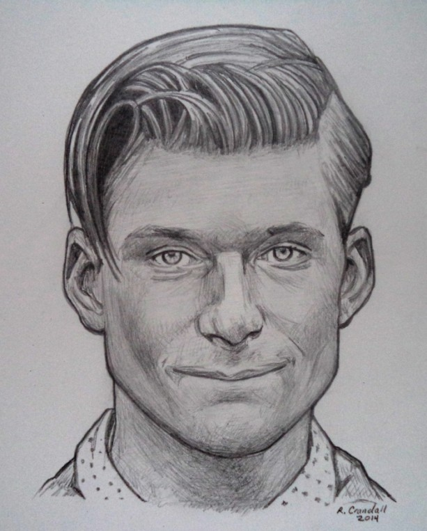 George Mcfly, Crispin Glover original drawing