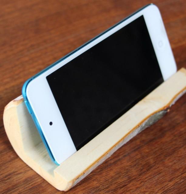 iPhone Holder Rustic Birch iPod Holder Wooden