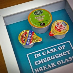 Coffee Lover's Gift - In Case of Emergency Break Glass - Gift for Him, Gag Gift, Gift for Husband, Men, Gift for Boyfriend Coworker Boss