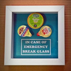 Coffee Lover's Gift - In Case of Emergency Break Glass - Gift for Him, Gag Gift, Gift for Husband, Men, Gift for Boyfriend Coworker Boss