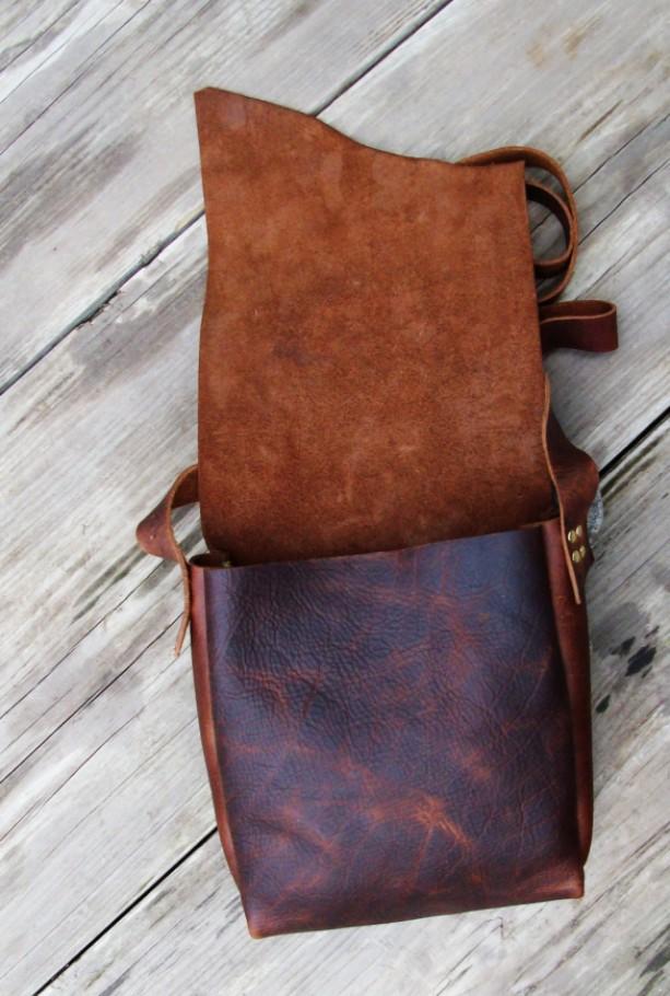Possibles Bag Handmade Rustic Leather Cross Body Hand Sched Messenger Satchel Bret Cali