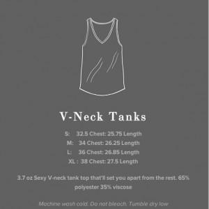 V Neck Tank Urban Tree Barcode in Black