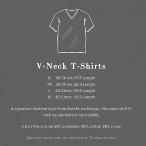 Skull w/ Bats Flying Urban V-Neck T-Shirt in White