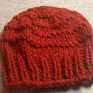ONLY ONE Knit Slouchy Hat in Red