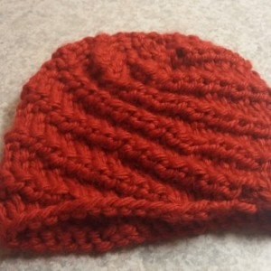ONLY ONE Winter Knit Red Beanie