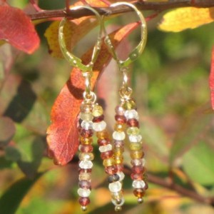 Multicolored Tunduru Sapphire Leverback Earrings