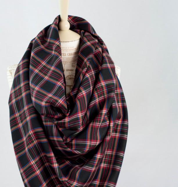 58beb1901 Black Plaid Blanket Scarf | aftcra
