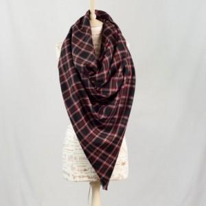 Black Plaid Blanket Scarf