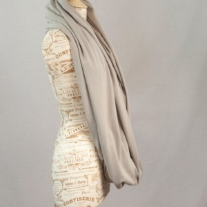 Light Grey Oversized Infinity Scarf
