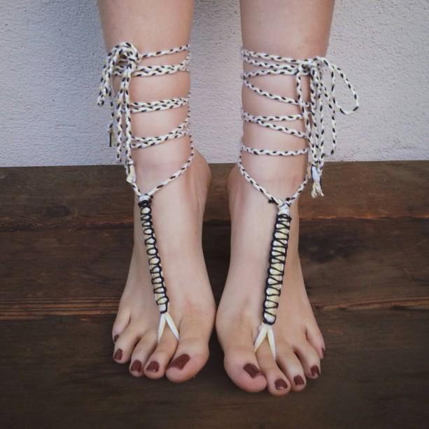 Barefoot Sandals - Soleless Shoes - Hippie Sandals - Boho Sandals - Yoga Shoes - Yoga Sandals - Earth Shoes - luce del sole