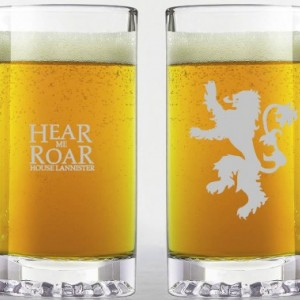Game of Thrones - House Lannister - Etched Beer Mug