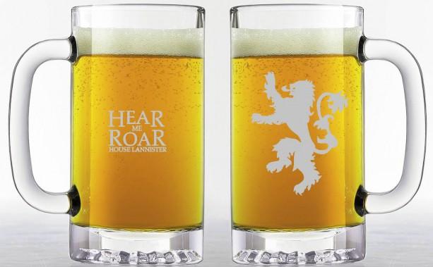Game of Thrones - House Lannister - Etched Beer Mug