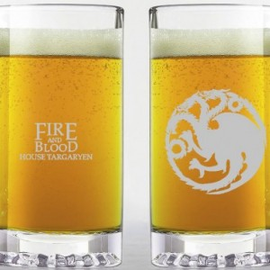 Game of Thrones - House Targaryen - Etched Beer Mug