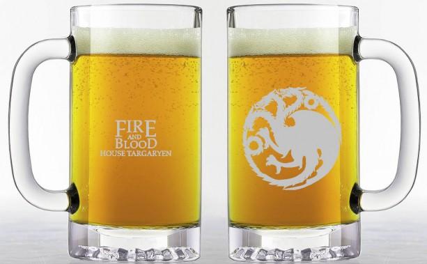 Game of Thrones - House Targaryen - Etched Beer Mug