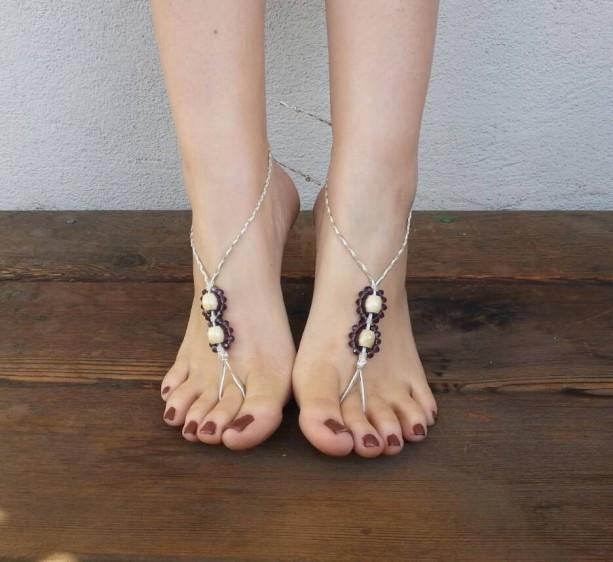 Barefoot Sandals - Mini Sandals - Hippie Sandals - Yoga Shoes - Hemp Sandals - Handmade Sandals - Bohemian Footwear - Yoga Sandals - Royals