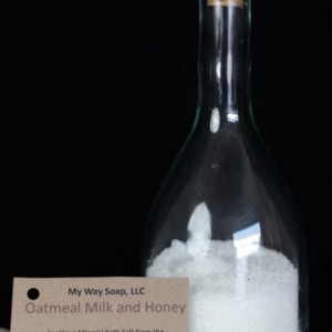Oatmeal, Milk and Honey Bath Salt - All Natural Sea Salts