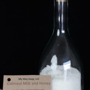 Oatmeal, Milk and Honey Bath Salt - All Natural Sea Salts