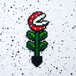 Super Mario Bros. - Piranha Plant - Perler Bead Piranha planter