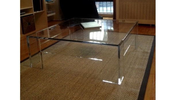 Square Acrylic/Lucite Cocktail or Coffee Table (Acrylic Furniture)