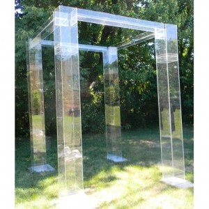 Acrylic/Lucite Wedding Structure - Chuppah, Mandap, Gazeebo (Acrylic Wedding Furniture)