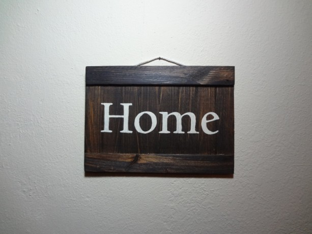Rustic 'Home' wooden wall art
