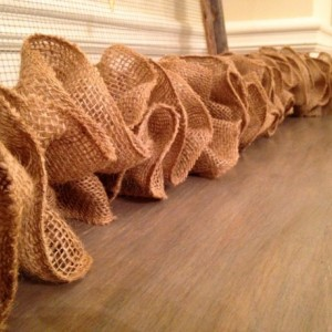 Natural Burlap Garland- Christmas, Wedding, Photography