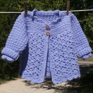 Little Girl's Iris Hand Crocheted Swing Coat/Sweater - 12mo - 2T- Original Design