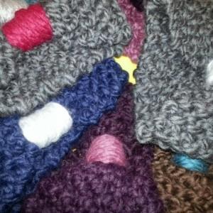 Hand Knit Bow Headband/Ear Warmers