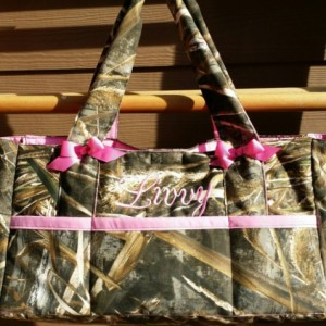 Realtree Max 4D or Realtree Max5D  Camo DIaper bag***SALE***6pocket** with Name embroidered-custom and personalized- washable