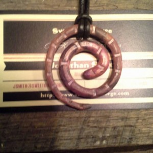 Hand Forged Copper Spiral Pendant