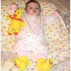 Duck Baby Booties, Animal Baby Booties, Crocheted Baby Booties, Baby Duck Booties, Baby Shower Gift