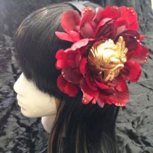 Angel Gold Hair flower piece festival gypsy goth drag